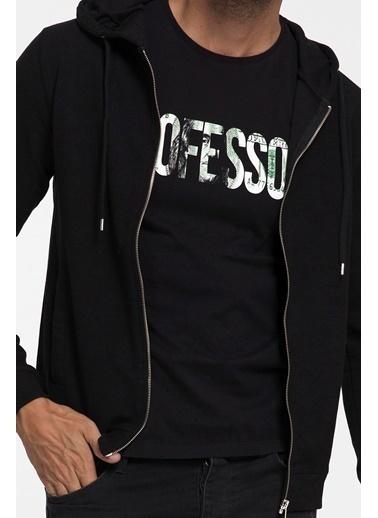 Loft Kapüşonlu Fermuarlı Sweatshirt Siyah